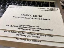 debossed business card on special paper material helixgram printing and graphic design name card saigon debossed name card ho chi minh helixgram