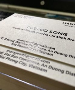 debossed business card on special paper material helixgram printing and graphic design name card saigon debossed name card ho chi minh helixgram design