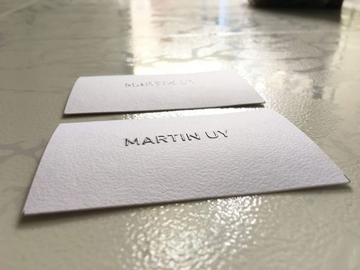 embossed-business-card-on-special-paper-texture-material-helixgram-design-and-printing-shop-saigon-helixgram-design-printing