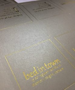 luxury gold foil business card with special texture paper material helixgram design and printing graphic design and printing helixgram design saigon printing shop ho chi minh design helixgram