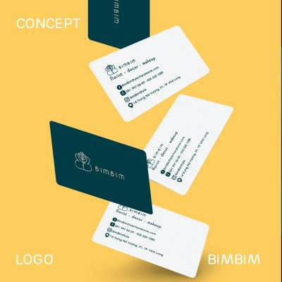 BimBim branding business card and logo design in Saigon brand identity package design and identity of vietnamese company BimBim graphic design and branding printing advertising by Helixgram