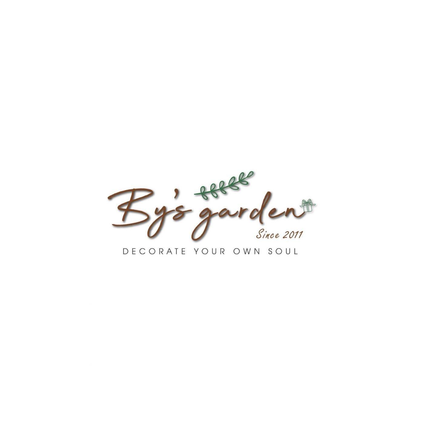 By's-garden-saigon-logo thiết kế bởi Helixgram logo trọn bộ nhận diện thương hiệu thiết kế hình ảnh đại diện brand identity thiết kế đồ họa in ấn quảng cáo thiết kế website WordPress Helixgram