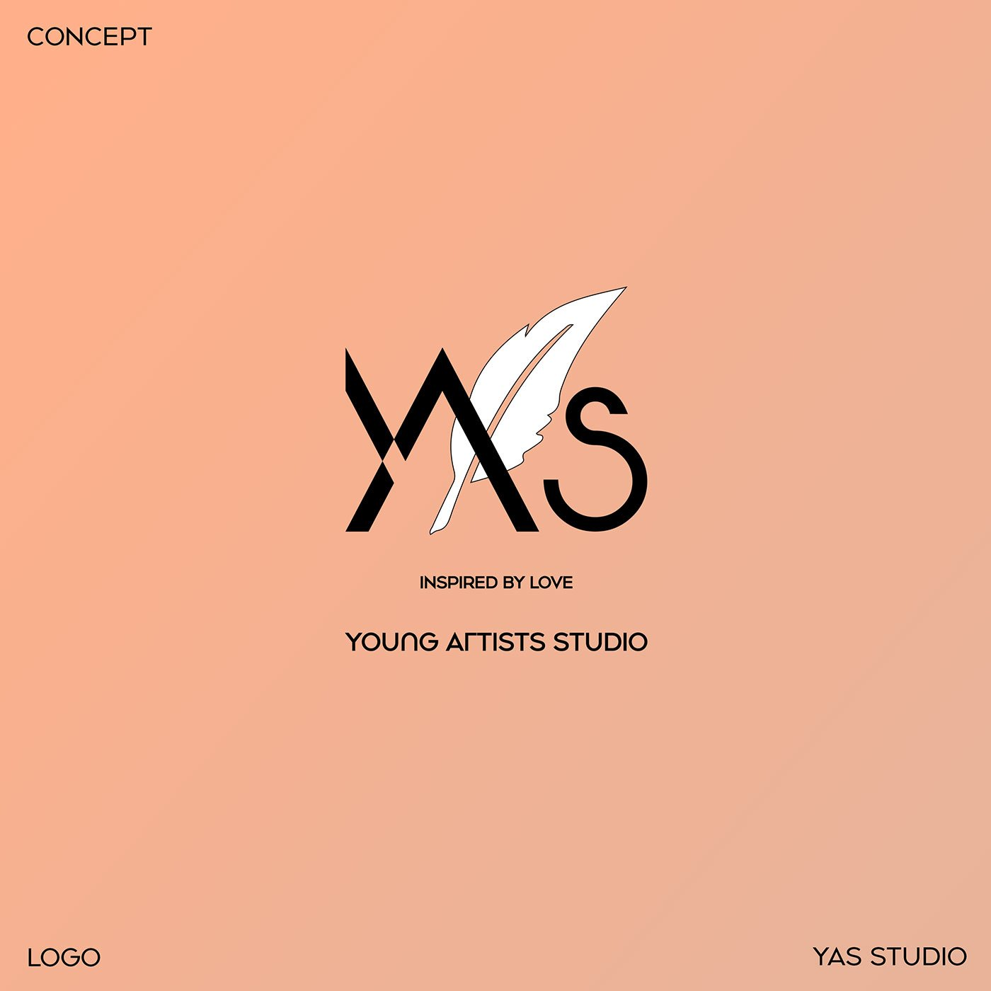 Logo YAS Young Artists Studio mobile web page design-branding design-visual-identity-design Vietnam-graphic-design-and-branding-web-design-logo-design-graphic design-Helixgram