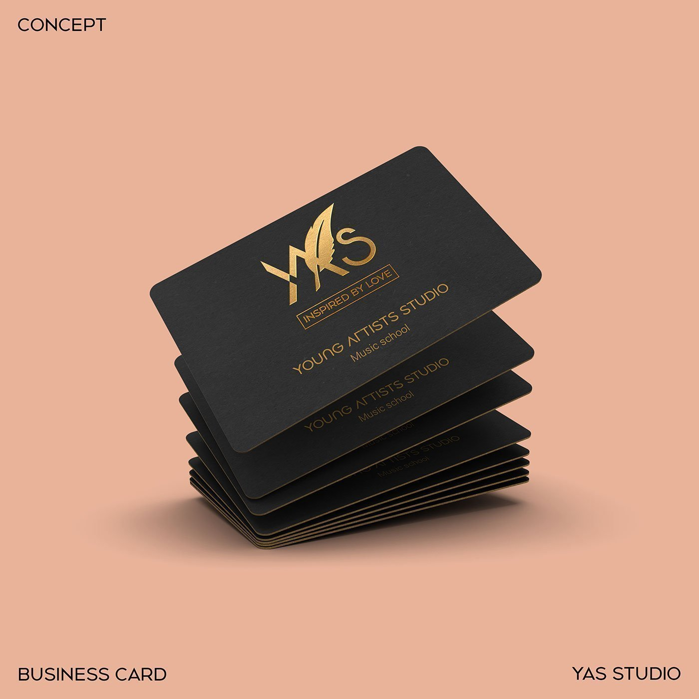 YAS Young Artists Studio official logo business card-mockup design-branding design-visual-identity-design Vietnam-graphic-design-and-branding-web-design-professional-logo-design-Helixgram