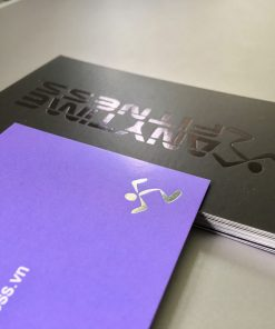 black foil business card with special texture paper material helixgram design and printing graphic design and printing helixgram design saigon printing shop ho chi minh design helixgram printing