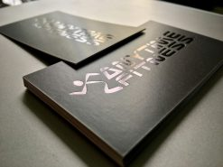 black foil business card with special texture paper material helixgram design and printing graphic design and printing helixgram design saigon printing shop ho chi minh design helixgram saigon