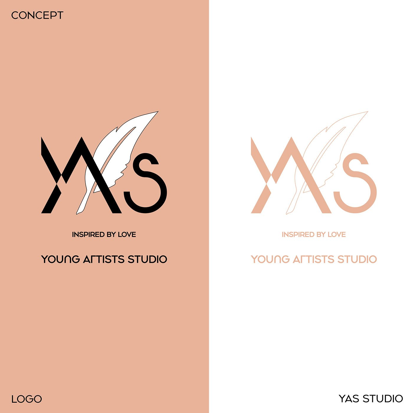 logo YAS Young Artists Studio logo design-branding design-visual-identity-design Vietnam-graphic-design-and-branding-web-design-logo-design-graphic design-Helixgram