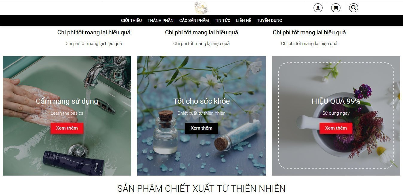 Mỹ-Phẩm-Hoa-Ngân-Cosmetics-website-design-and-development-logo-design-graphic-design-visual-identity-design-product-photography-SEO-printing-Helixgram-Design-Saigon