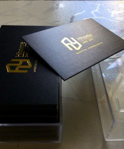 Squared-Corners-Gold-foil-business-card-design-and-printing-lulxury-name-card-on-art-paper-material-printing-business-card-Saigon-by-Helixgram-Design
