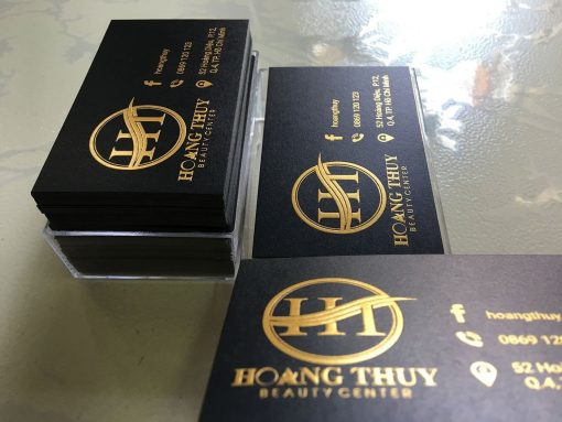 Gold-Foil-Business-Card-with-Embossed-Letters-on-Black-art-paper-material-Hoang-Thuy-design-and-printing-lulxury-name-card-in-Saigon-by-Helixgram-Design-3