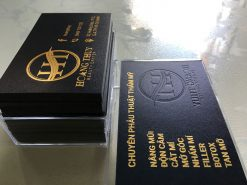 Gold-Foil-Business-Card-with-Embossed-Letters-on-Black-art-paper-material-Hoang-Thuy-design-and-printing-lulxury-name-card-in-Saigon-by-Helixgram-Design-4