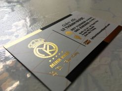 Silk Laminated Gold-foil-business-card-printing-lulxury-name-card-on-standard-paper-material-printing-business-card-in-Saigon-by-Helixgram-Design