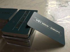 Danh thiếp ép kim bạc cán màng mờ bo góc Viet Deco Import Business Card Thiết kế và In ấn bởi Helixgram Design