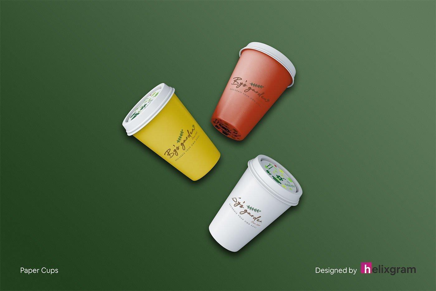 Brand-Identity-Design-paper-cup-By's-Garden-visual-identity-design-package-corporate-identity-design-logo-design-flyer-poster-book-cover-design-web-design-digital-advertising-design-Helixgram