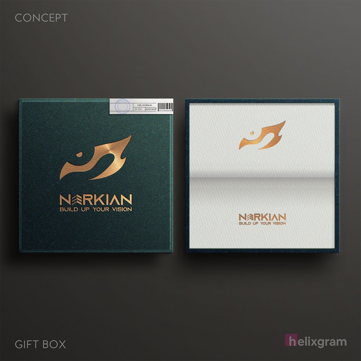 Brand-Identity-Gift-box-packaging-Narkian-design-visual-identity-design-package-corporate-identity-design-logo-design-flyer-poster-book-cover-design-web-design-digital-advertising-Helixgram
